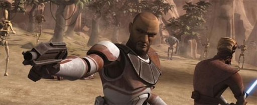 Le Capitane Clone Keeli est le Général Jedi Ima-Gun Di.