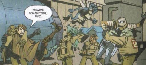 Anakin Skywalker et le Capitaine Rex contre les agents Séparatistes.