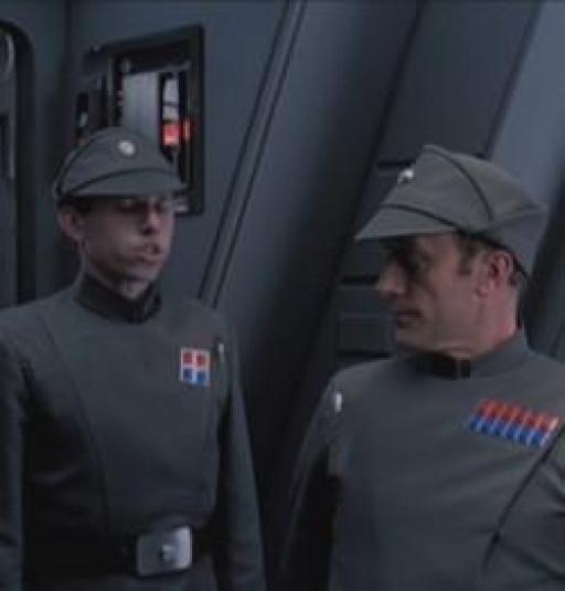 Cecius et l'Amiral Firmus Piett.