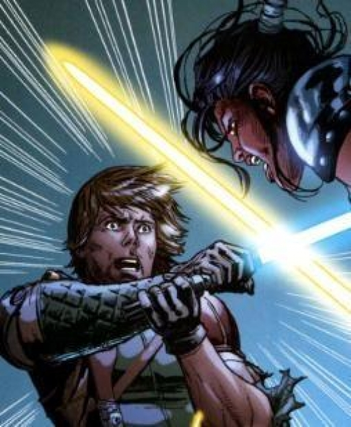 Le duel entre Luke et Celeste