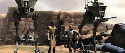 Le Général Jedi Mace Windu et le Commandant Ponds.