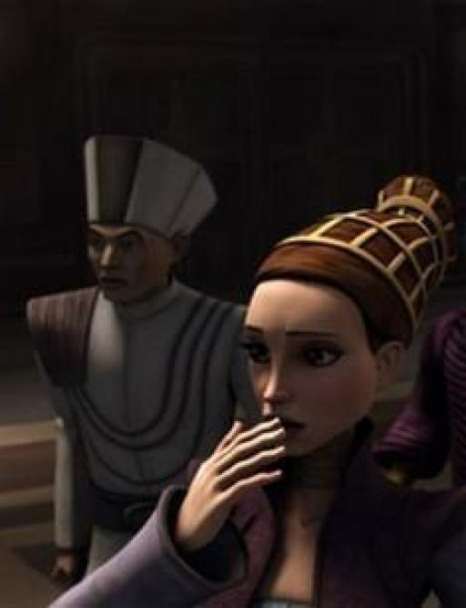 Roohd et Amidala assistent à la mort de Philo.