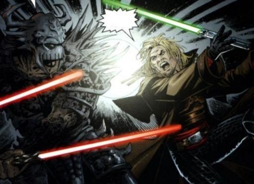Le combat entre Cade et Darth Krayt