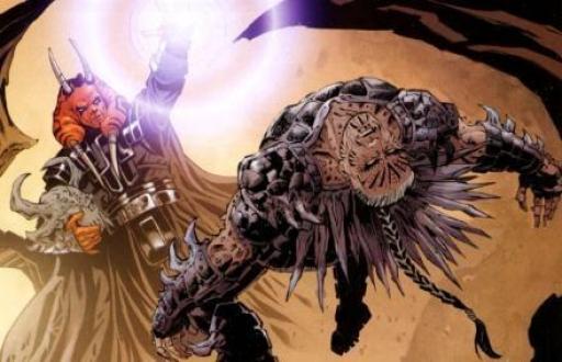 Darth Wyyrlok ramenant le corps de feu Darth Krayt