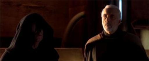 Sidious est satisfait des nouvelles que lui rapporte son apprenti, Darth Tyranus : la guerre a commencée.