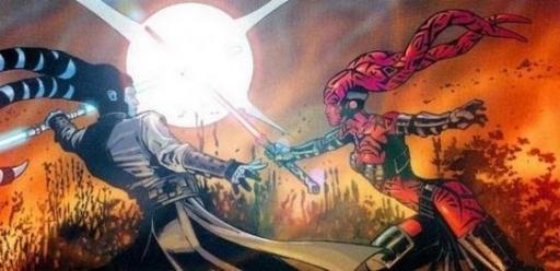 Darth Talon affrontant Shado Vao sur Vendaxa