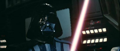 Vader affronte Luke sur l'Etoile Noire II.