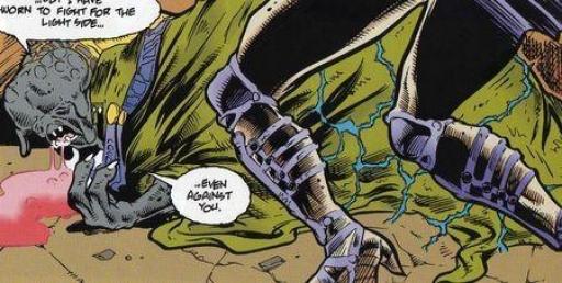 Dominus, mourant, achève son élève