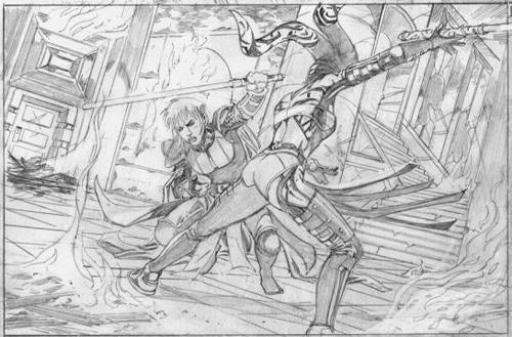 Elke lors de son combat contre Darth Talon