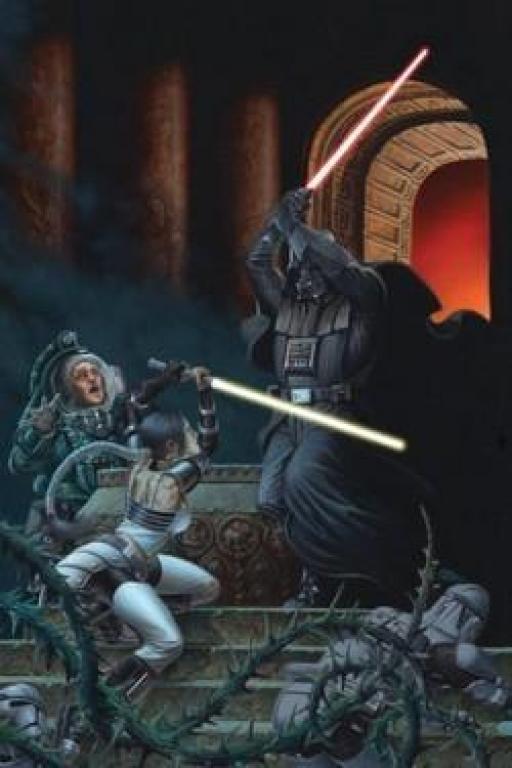 Fane assiste au duel de Celeste et de Vader.