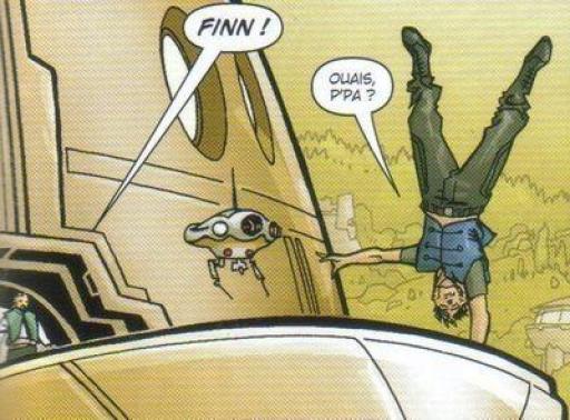 Finn en pleine séance d'acrobatie