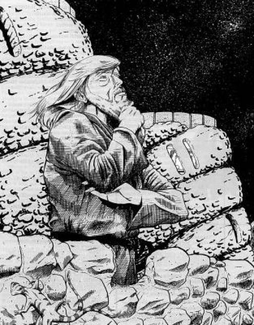 Joruus attendant l'arrivée de Skywalker au Haut Château, sur Jomark
