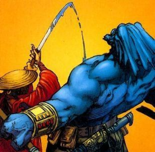 Ko Vakier excellant au combat avec son katana