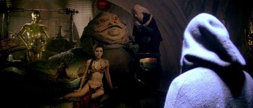 La Princesse Leia, prisonnière de Jabba the Hutt