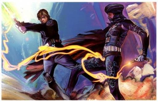 Dernier Combat entre Luke Skywalker et Lumiya