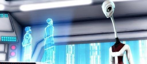 Nala Se face aux hologrammes d'Obi-Wan Kenobi et de l'Amiral Wullf Yularen.