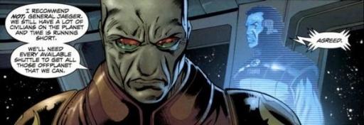 Avec l'accord de l'Empereur Roan Fel, Jaeger apporte son soutien à Stazi.