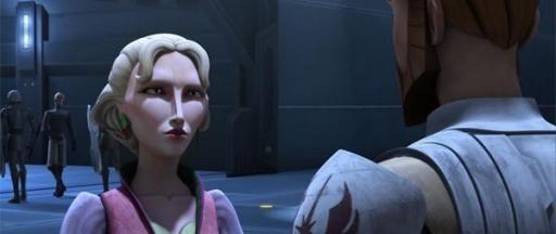 Obi-Wan demande une faveur à Satine.