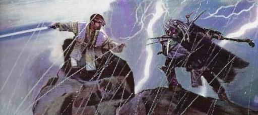 Shedao Shai affrontant Corran Horn sur Ithor.