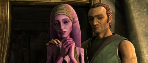 La Twi'lek Suu et l'ancien soldat clone Cut Lawquane.
