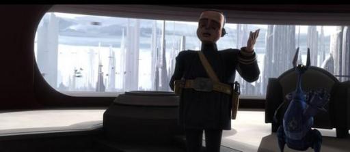 Le Lieutenant Tan Divo de la Force de Sécurité de Coruscant.