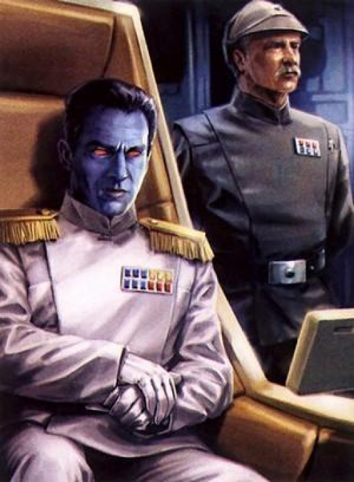 L'Amiral Thrawn et le Capitaine Gilad Pellaeon.