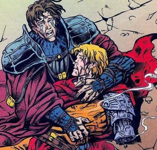 Ulic Qel-Droma après avoir tué Cay, son propre frère.
