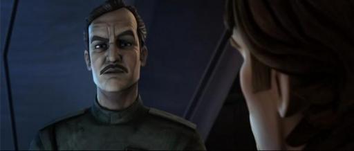 L'Amiral Yularen désapprouve ouvertement la stratégie du Général Skywalker.
