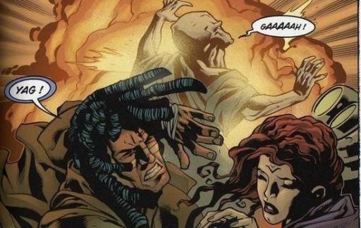 Yag se sacrifie pour permettre à Quinlan de poursuivre sa mission