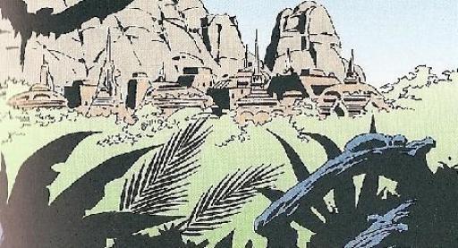 Fig 2 : Kiidan, capitale de Cilpar