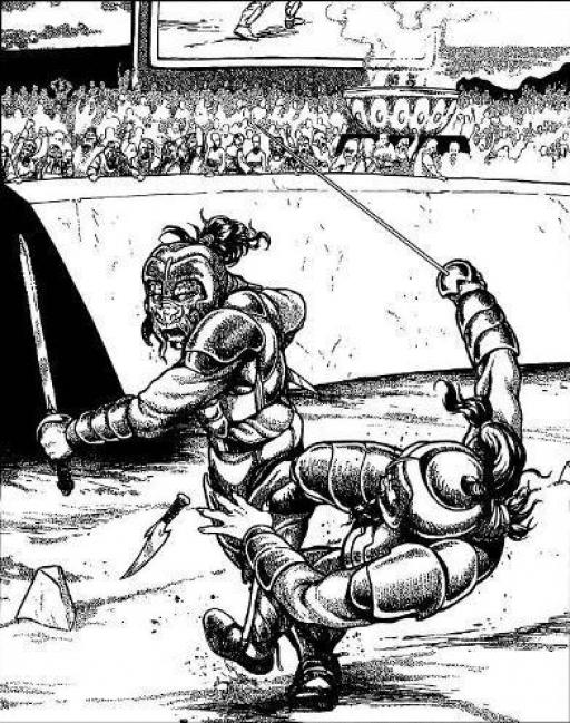Un combat de gladiateurs dans le Rols'Kus