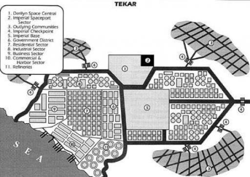 Plan de la cité de Tekar