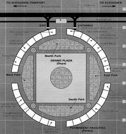 Plan du Bazar d'Elrood