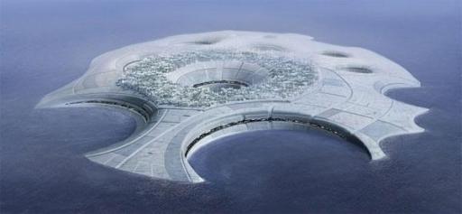 La cité flottante Ahto, également capitale de Manaan