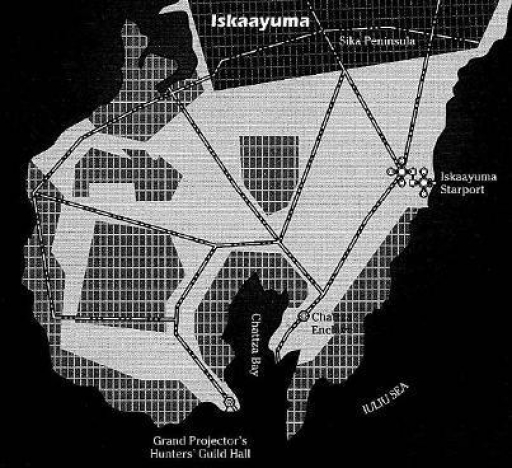 Plan de la capitale de Rodia, Iskaayuma