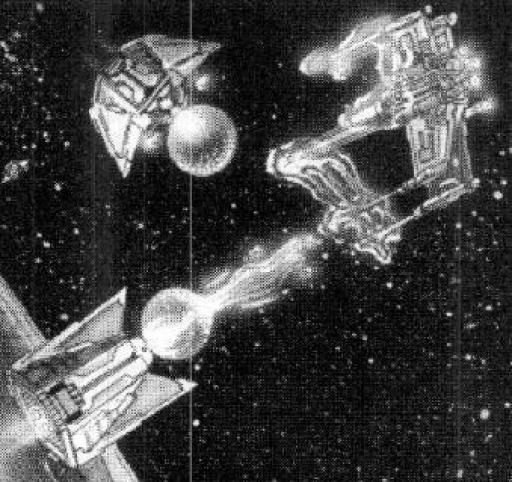 Chasseurs Zebra de la Confédération Qektoth attaquant un X-Wing à l'aide de gel bio-plasmatique