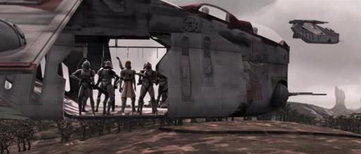 La Canonnière d'Assaut Républicaine TIO/BA Crumb Bomber sur Ryloth.