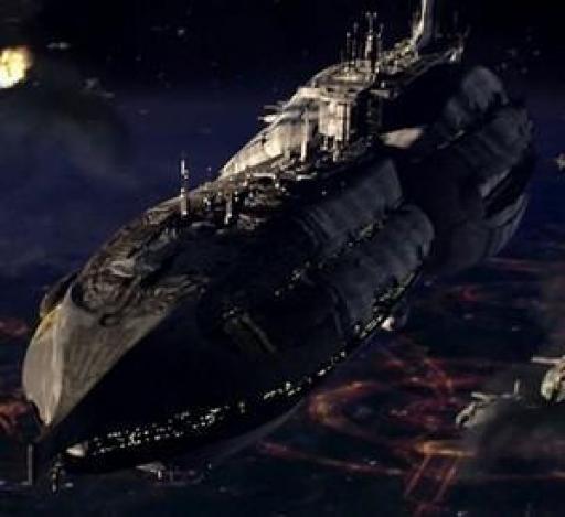 L'Invisible Hand en orbite de Coruscant.
