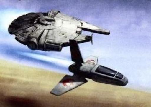 YV-545 escorté par un Chasseur Pinook