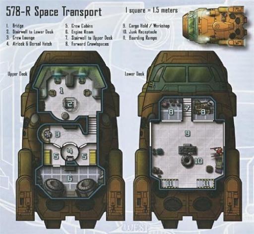 Plan type d'un Transport Spatial 578-R