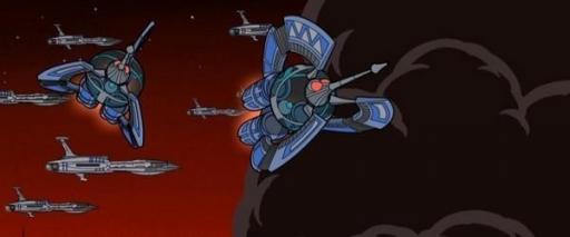 Des Tri-chasseurs Droïdes en action.