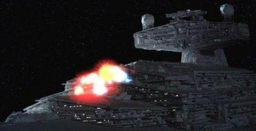 Les tirs du canon à ions atteignent les fonctions vitales du destroyer