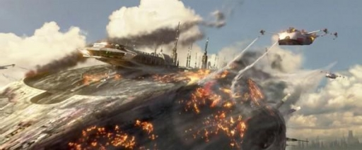 La Troisième Brigade de Pompiers en action lors de la Bataille de Coruscant.