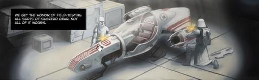 Deux Clones Snowtroopers et un Swoop CK-6.
