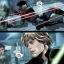 Shara Bey et Luke Skywalker au sein de la Base Impériale de Vetine.