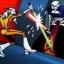 Maxus assiste à un duel entre Ventress et Tano aux commandes de son Podracer.
