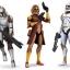 Soldats Clones armés de divers DC.