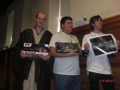 Le podium du Concours Jedi