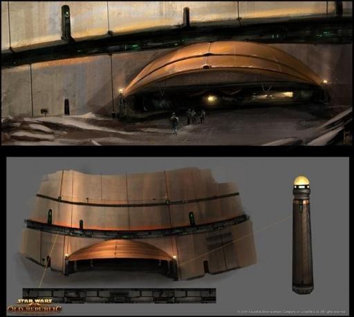 Concept-art de l'entrée du Palais
