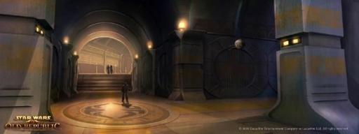 Concept-art de l'intérieur du Palais Hutt